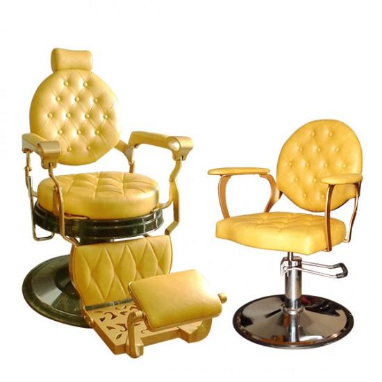 Елегантен фризьорски стол в модерен жълт цвят - A305