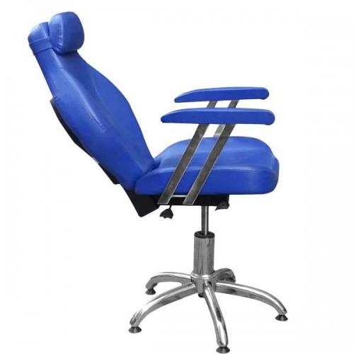 Бръснарски стол в син цвят - 1191-02