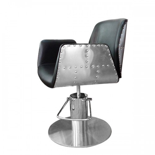 Фризьорски стол, черен - HA295
