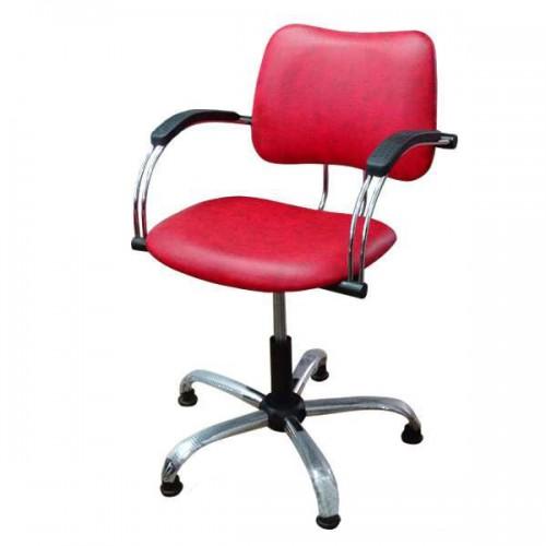 Фризьорски стол в червен цвят - 331