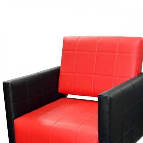 Фризьорски стол със стилна визия - Модел M401, Черно-Червено