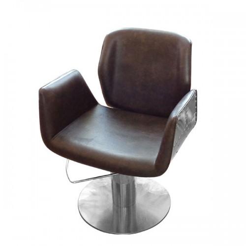 Фризьорски стол в кафяв цвят - HA295