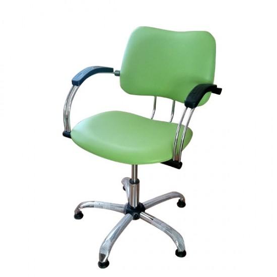 Фризьорски стол в зелен цвят