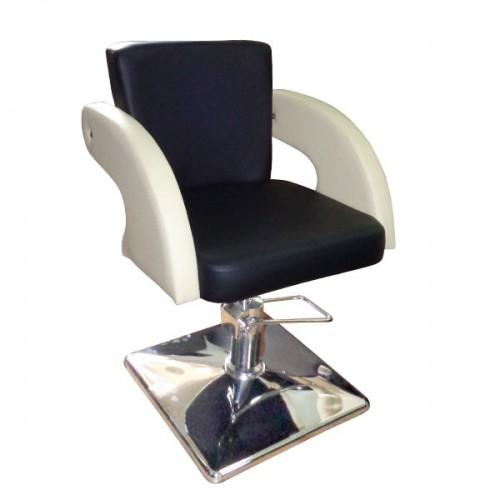 Фризьорски стол в черно и крем бяло - М1001