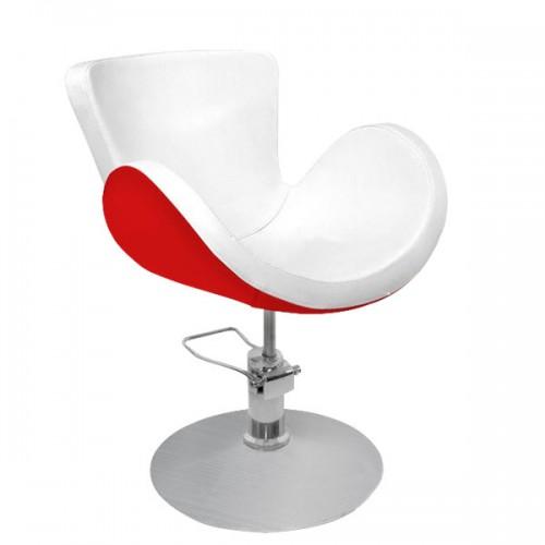 Фризьорски стол в червено и бяло - PA03F0RW
