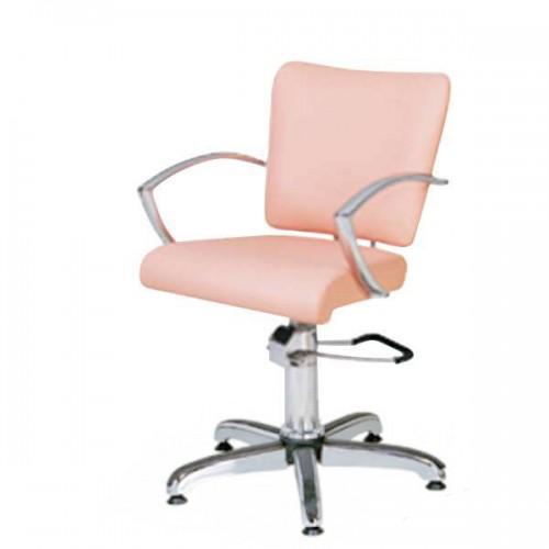 Фризьорски стол в бледорозов цвят- 304-02