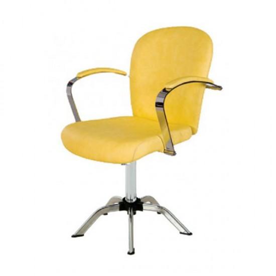 Фризьорски стол, жълт - 361К