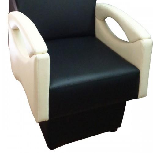 Измивна колона в черно и крем бяло - М950