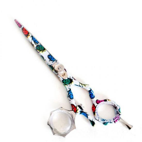 Фризьорска ножица в свежи цветове, 5,5 - F013