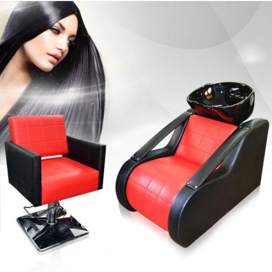 Комплект фризьорско оборудване - измивна колона+фризьорски стол