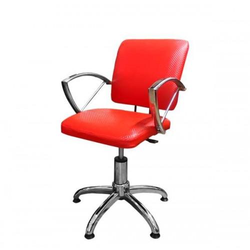 Фризьорски стол с ергономичен дизайн - червен