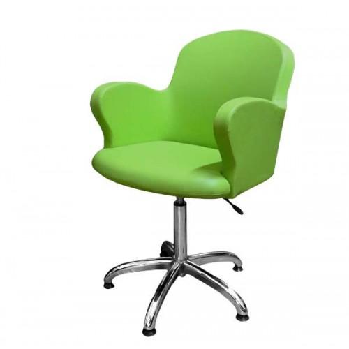 Фризьорски стол, зелен