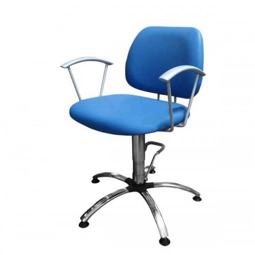 Фризьорски стол в син цвят