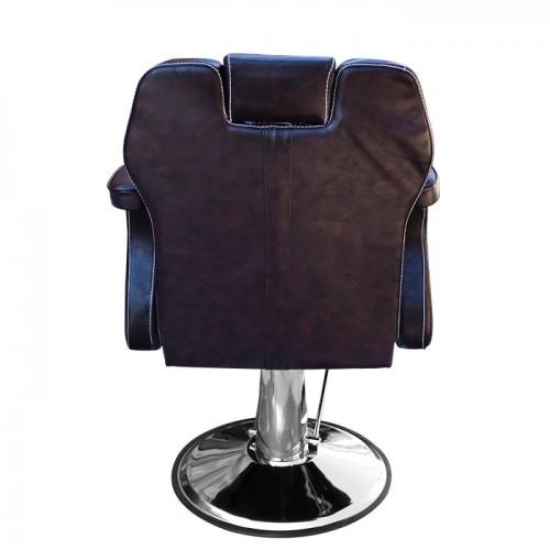 Ретро бръснарски стол в кафяво Модел 3165
