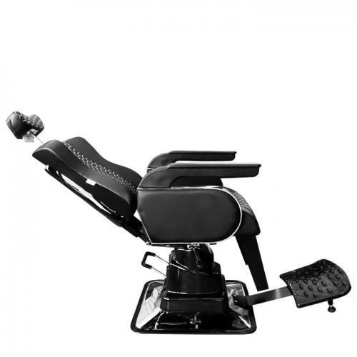 Бръснарски стол от черна еко кожа - N1005