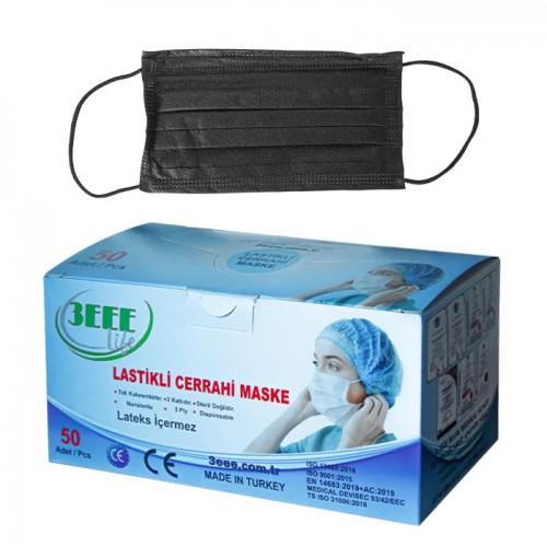 Медицински маски 3EEE за еднократно ползване, Черни - 50 бр