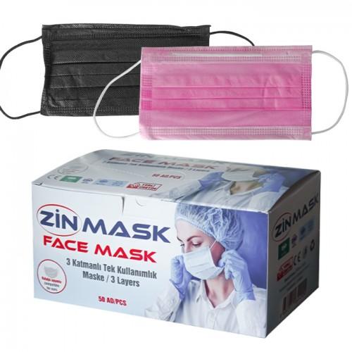 Медицински маски Zin mask за еднократно ползване - 50 бр