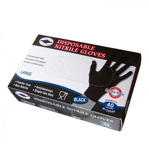 Еднократни предпазни ръкавици от нитрил, 40 броя
