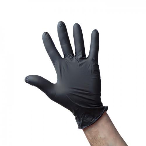 Еднократни черни предпазни ръкавици от нитрил Premium, 100 броя