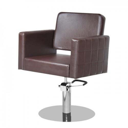 Фризьорски стол в стилен кафяв цвят M970