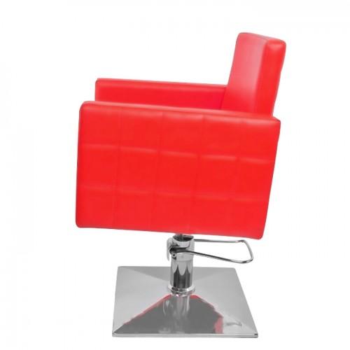 Фризьорски стол PA08F0R в червено