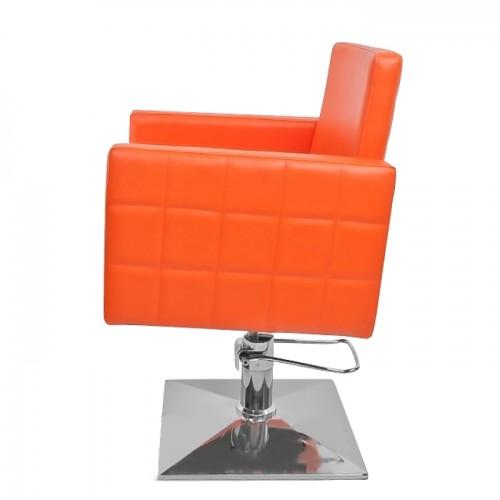 Професионален фризьорски стол в оранжево модел PA08F0OR