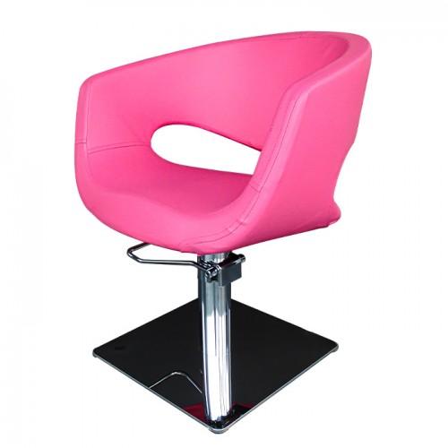 Фризьорски стол със стилен дизайн в розово - T51
