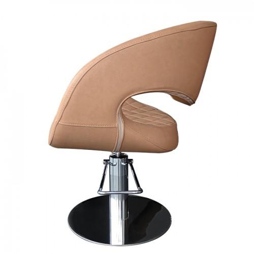 Фризьорски стол със стилен дизайн в кафяво - T52