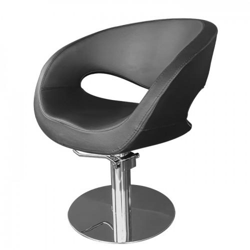 Фризьорски стол със стилен дизайн в черно - T53