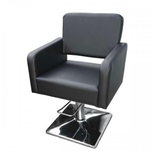 Елегантен фризьорски стол М300, Черен