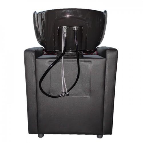 Измивна колона със стилен дизайн в черно M402 с червени шевове