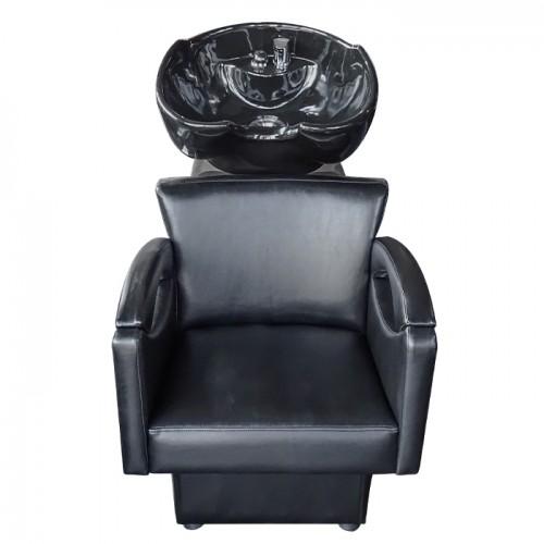 Фризьорска измивна колона с елегантен дизайн М950, черен