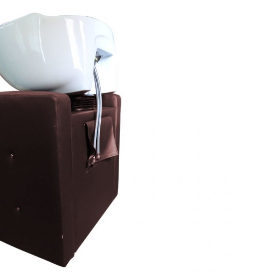 Фризьорска мивка в кафяво и бежово М400-d