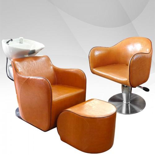 Комплект за фризьорски салон в изящен цвят Златна охра