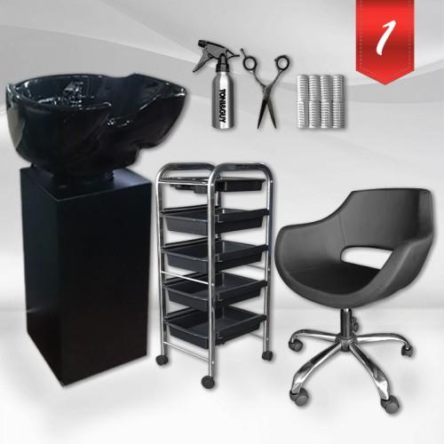Комплект фризьорско оборудване в два варианта - Black