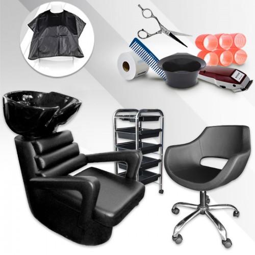 Комплект фризьорско оборудване START + подарък артикули за фризьора