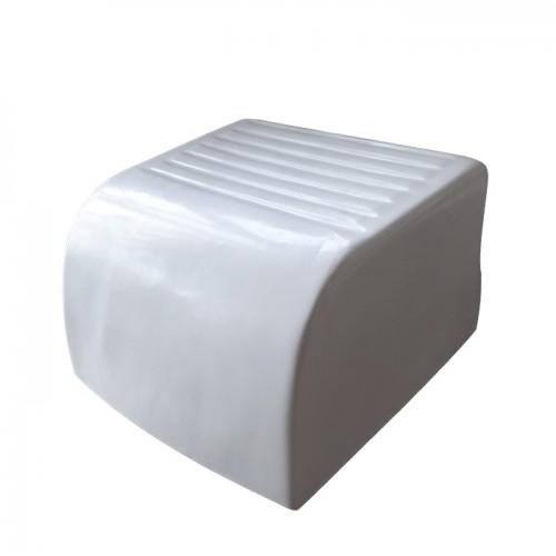 Бяла пластмасова поставка за крака модел D421